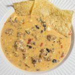 loaded crockpot cheese dip