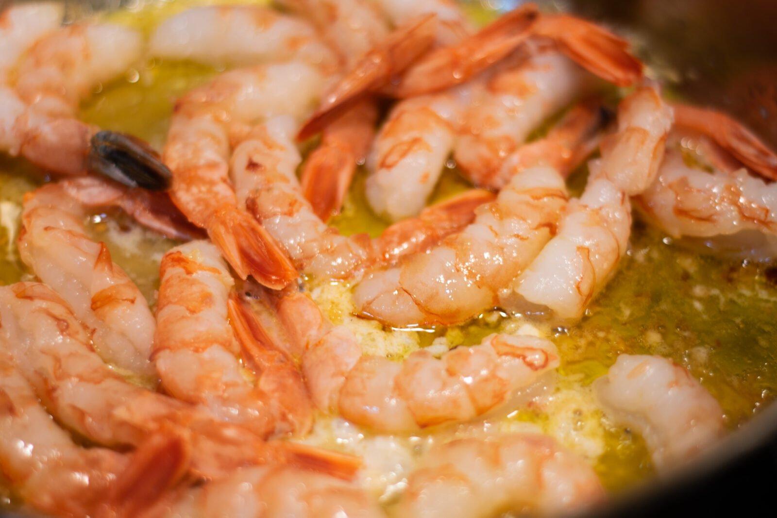 shrimp in scampi sauce