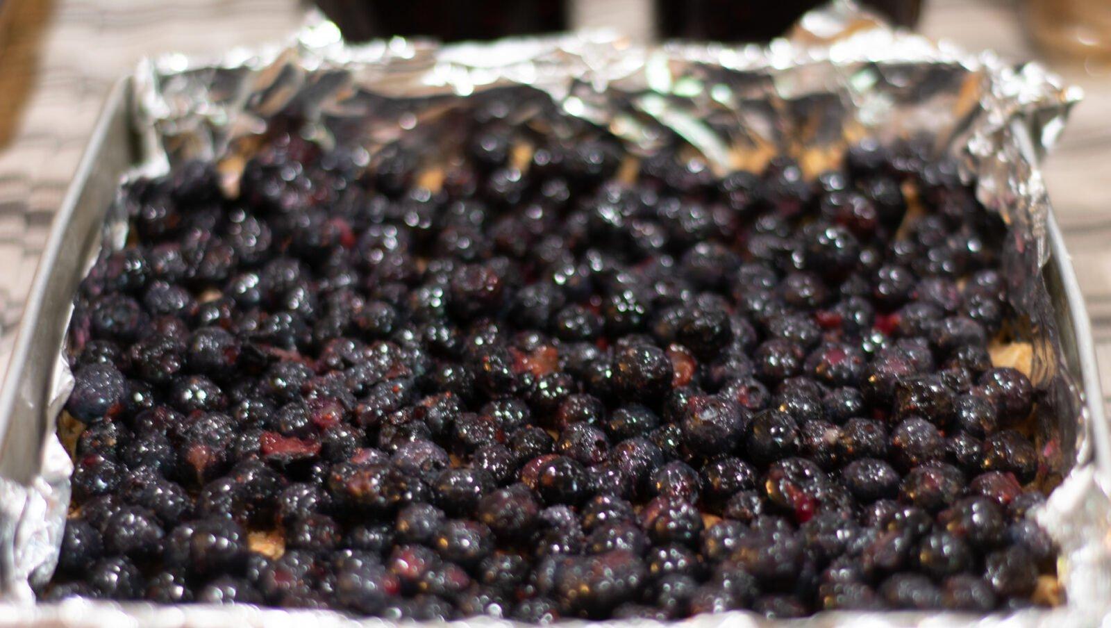 filling for blueberry oatmeal bars