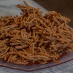 Butterscotch Haystacks on plate